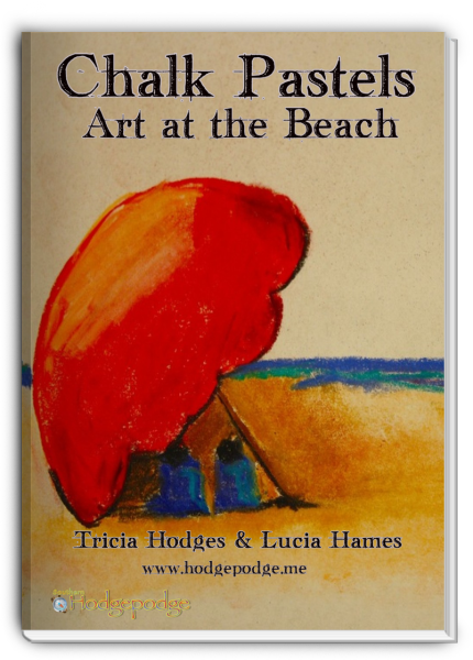 chalk pastels- art at the beach