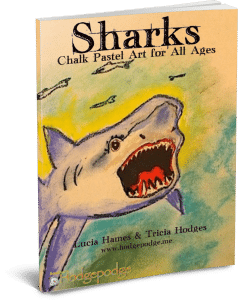 Sharks - Chalk Pastel Art for All Ages 3D