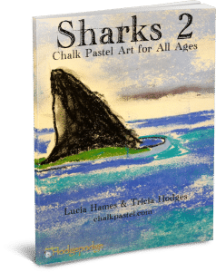 Sharks 2 Chalk Pastel Art for All Ages 3D