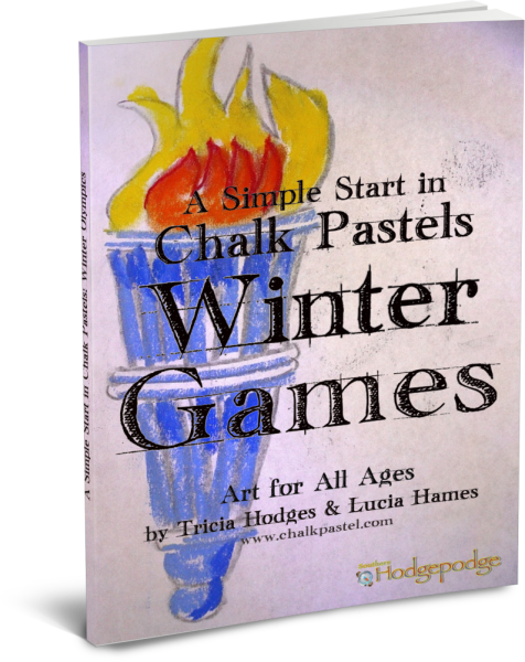 Winter Games - Celebratory art for all ages with chalk pastel