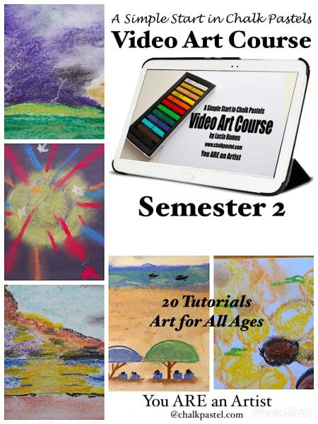 A Simple Start in Chalk Pastels Video Art Course Semester 2 - You ARE an Artist! This art instructor come to me, works around my schedule and teaches all my kids at the same time!