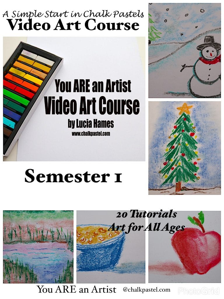 A Simple Start in Chalk Pastels Video Art Course Semester 1 - lessons from a Master Artist you can take over and over again from any device!