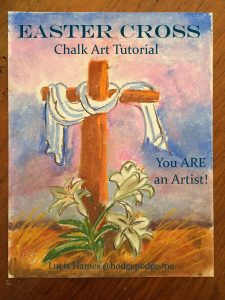 Easter Cross Chalk Art Tutorial - FB Live