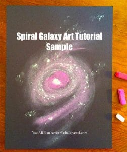 Spiral Galaxy Space Art Tutorial Sample