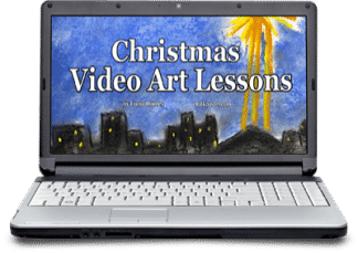 Celebrate the Christmas season with art! Christmas video art lessons include the nativity, Christmas star, snowman, Christmas train and more!
