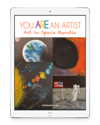 Art in Space video art course. Expand your astronomy study with beautiful space art – planets, comets, nebulae, spiral galaxy and more. Art for all ages!