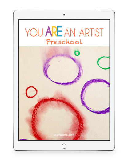 With our preschool chalk pastel video art lessons your artists will learn how to draw circles, squares, triangles and even a straight line!