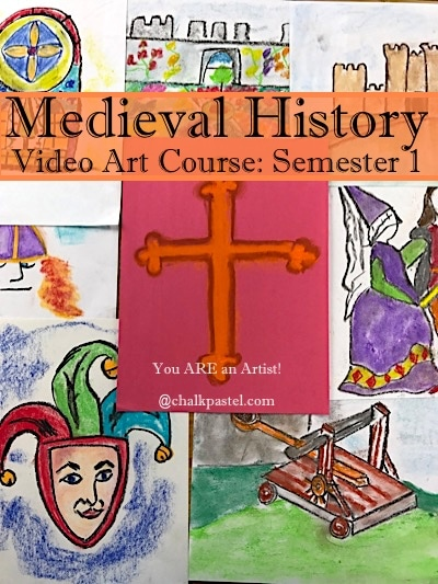 History and art are a beautiful combination. Expand your medieval history studies and make them come alive with chalk pastel art and our Medieval Video Art Course. I Drew It Then I Knew It!