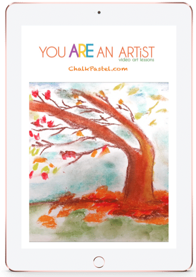 Invite a Master Artist to teach the joy of art to all grades and ages using fall video chalk art lessons. Online art lessons from the comfort of your home!