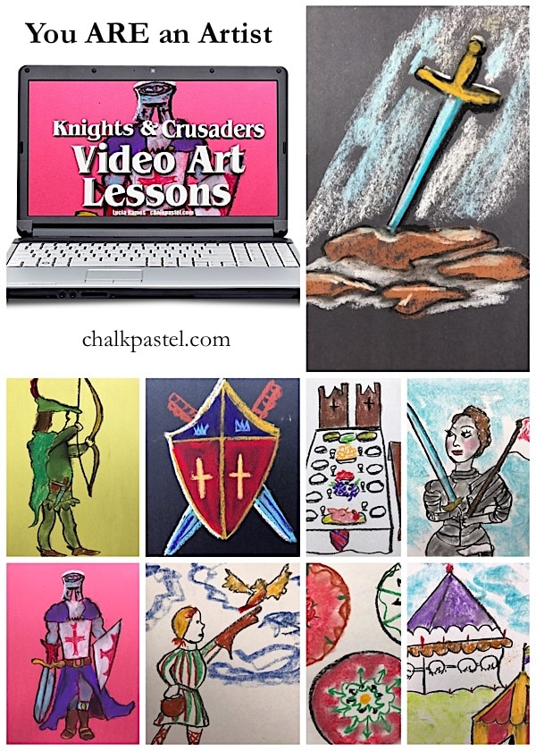 History and art are a beautiful combination. Expand your medieval history studies and make knights and crusaders come alive with chalk pastel art.