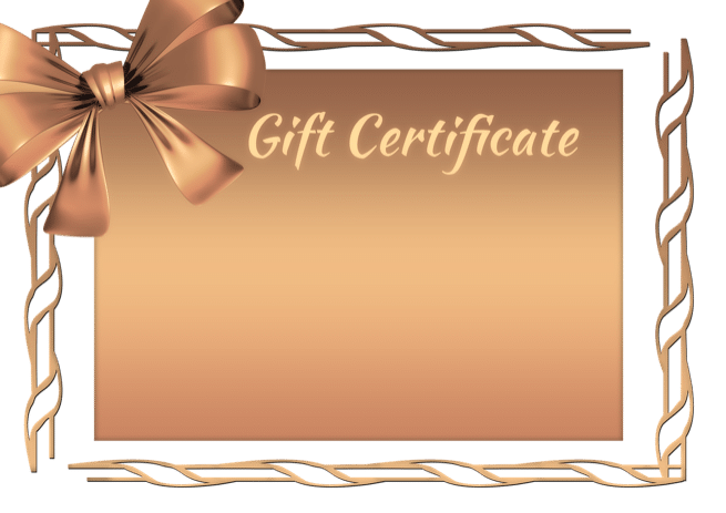 gift certificate you are an artist