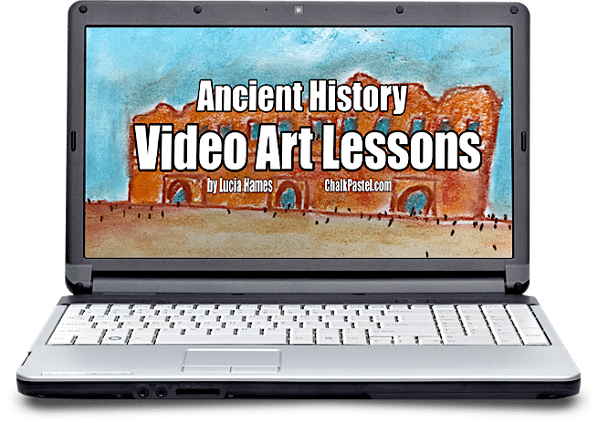 You will learn to paint parts of history too because you ARE an artist with Ancient History video art lessons! I Drew It Then I Knew It!