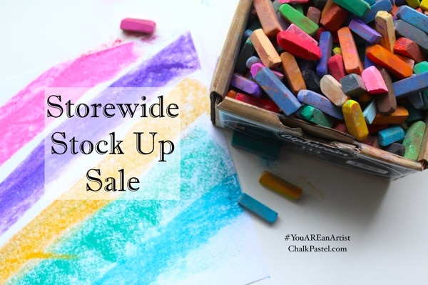 Storewide Stock Up Sale ChalkPastel.com 25% off