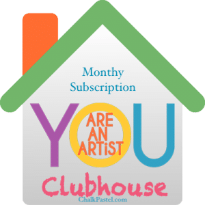 With your clubhouse monthly subscription you will have access to what you need and you don't even have to be the art teacher! Clubhouse subscribers get a bank of art lessons for all ages, a wonderful community and Nana's new weekly art lessons. It's art lessons for the whole family!