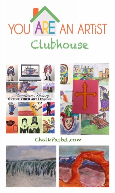 Expand your history studies and make them come alive with chalk pastel art. Not only will you know history, you will learn to paint parts of history too because you ARE an artist with a History Art Lessons Subscription!