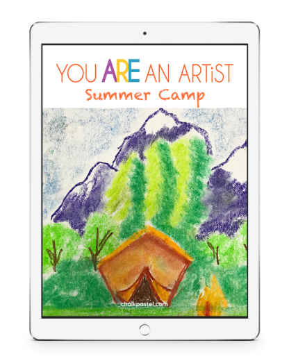 Summer Camp Video Art Lessons! All it takes is a starter set of chalk pastels, construction paper and Nana's video art lessons for a virtual summer art camp!