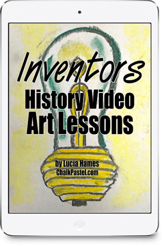All it takes is a starter set of chalk pastels, construction paper and these Inventors history video art lessons to enjoy learning! Edison, Franklin, Wright brothers, Ford, Tesla, Fulton and more. Yes you ARE an artist!