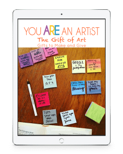 The Gift of Art: Gifts to Make and Give Video Art Lessons is a wonderful stand alone art curriculum or a perfect complement to your holiday gift-giving fun.