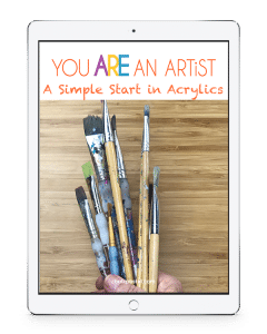 There are no expensive, intimidating list of art supplies. A Simple Start in Acrylics Video Art Lessons is a wonderful stand alone art curriculum for all ages.