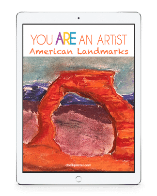 With your chalk pastels at the ready, let's take a tour of American Landmarks from sea to shining sea! American Landmarks Video Art Course for All Ages.