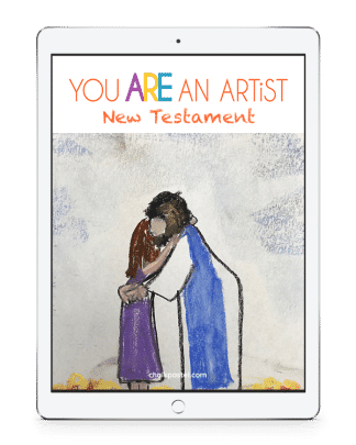 New Testament Bible Stories Video Art Lessons for all ages. Just chalk pastels and construction paper and no expensive, intimidating list of art supplies.
