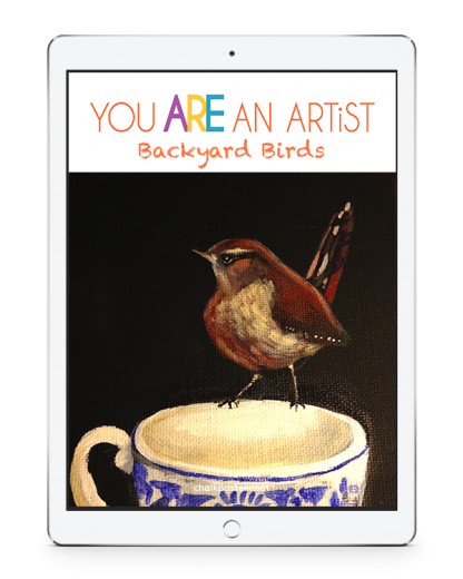 Enjoy acrylics for as little a cost as chalk pastels! Nana's Backyard Birds Acrylics Video Art Lessons are a beautiful complement to your nature learning.