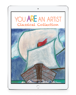 Expand your studies with Nana's Classical Collection History Art Lessons and make history come alive with chalk pastel art. Not only will you know history, you will learn to paint parts of history too because you ARE an artist!