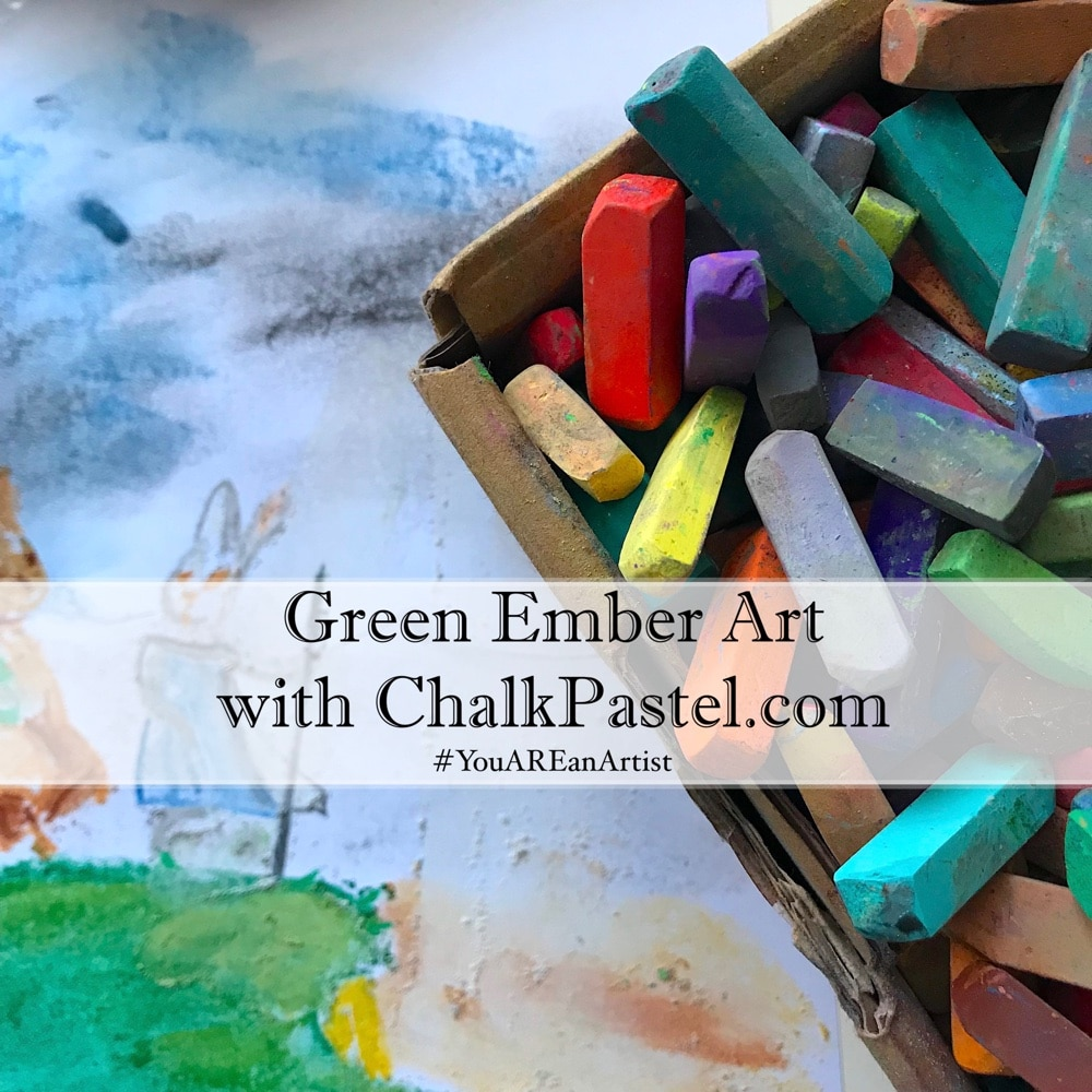 Calling all Green Ember fans! These special chalk pastel Green Ember Art Lessons with Nana are great additions to your tea time and read aloud time.