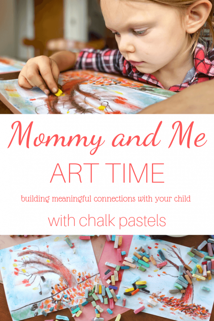 Are you looking for meaningful connections with your child? Did you know that art is a wonderful way to help strengthen your relationship? Share some one on one time with your kiddo with mommy and me art time with chalk pastels!