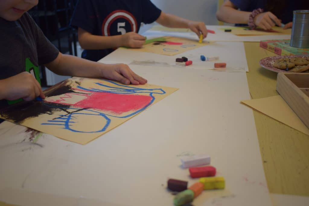 How to Make Time for Preschool Art in Your Homeschool