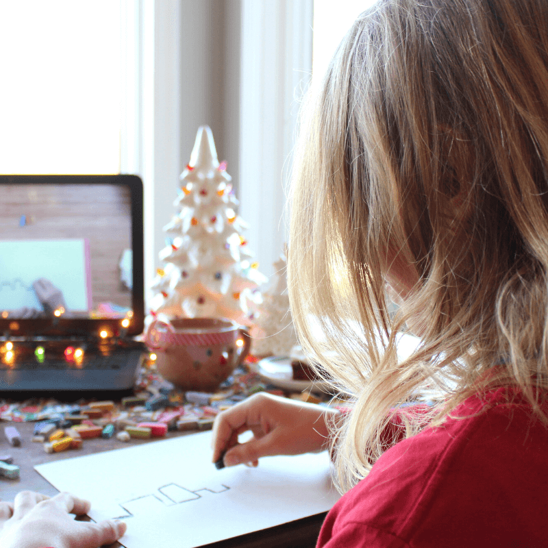 Christmas chalk pastels offer an easy and fun way for the whole family to slow down and enjoy the tranquility that only art can bring.