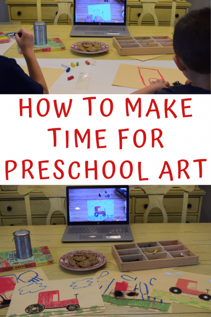Early learners need lots of play-based learning and time creating. We have to make time for preschool art in our homes and homeschools.