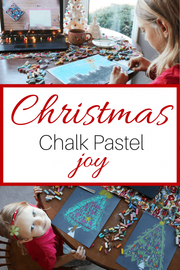 """Nana's Christmas Wreath art lesson is a beautiful addition to your Christmas School. Erin says, """"art has been the most special of Christmas homeschool activities."""