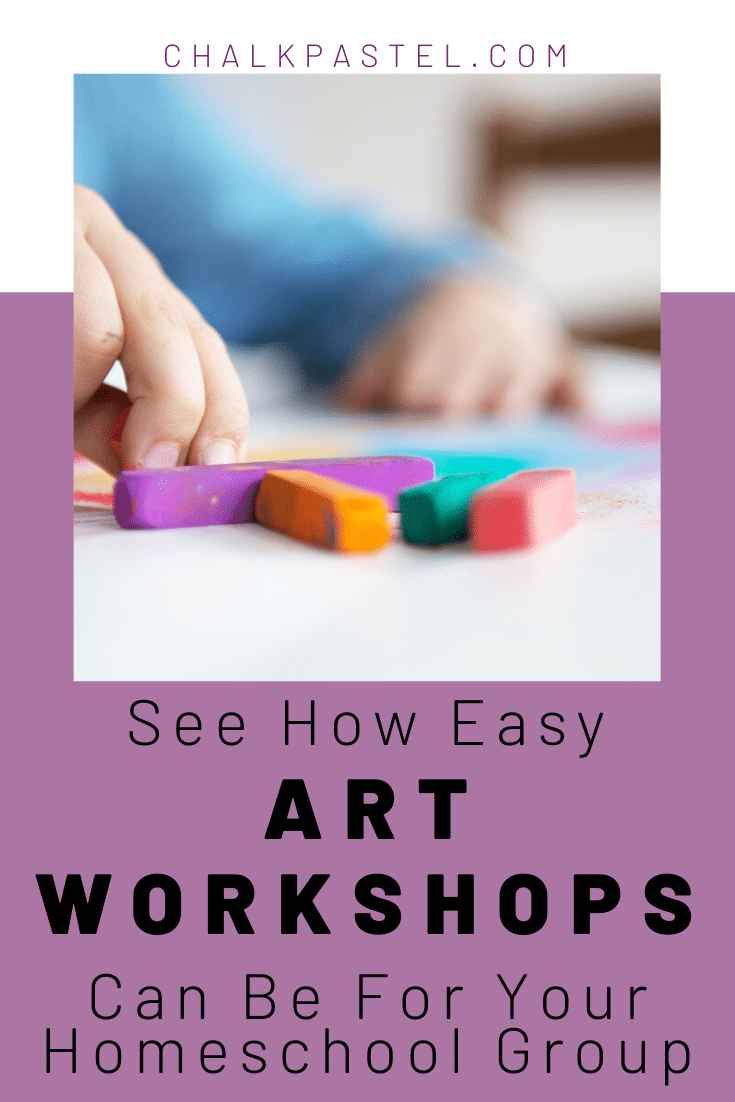 Art is flexible when it comes to planning educational lessons. Here are some easy art workshops for your homeschool group with Nana of You ARE an Artist.