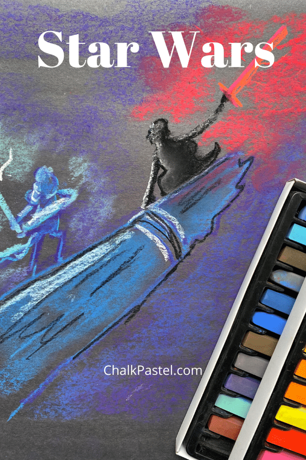 Enjoy a sample of Chalk Pastels at the Movies with Nana's How to Draw Star Wars in Chalk Pastels Video Art Lesson! Are you a huge Star Wars fan too?
