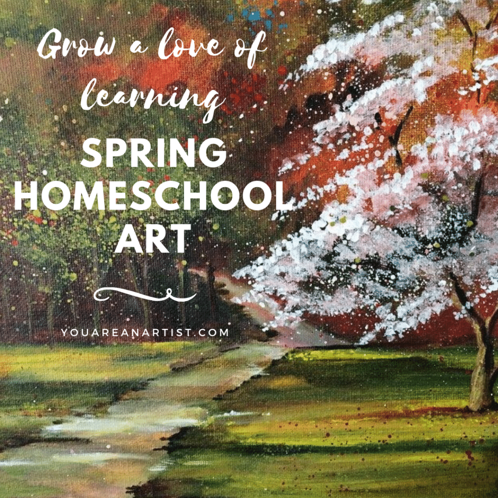 We have such fun spring homeschool art lessons coming up, you will start feeling like spring yourself, and looking around for your flip flops! Come on, let's go paint and take our shoes off! ❤️Nana