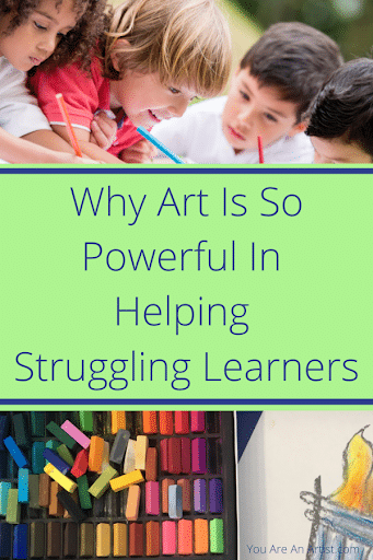 Art is so powerful in helping struggling learners because they are engaged in the multi-sensory components of the learning (and it's way more fun!)