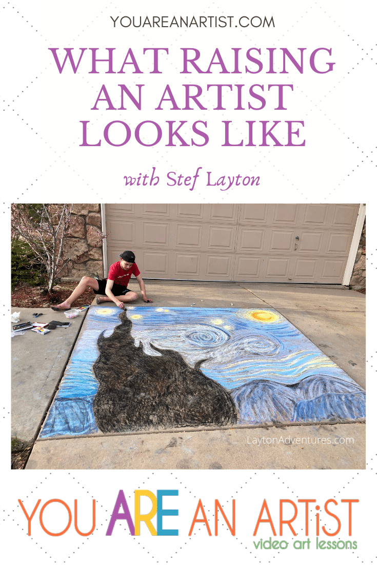 Once a week magically became every other day as we couldn't wait to try out another chalk art tutorial. Here is what raising an artist looks like. And how practice grew into an unexpected chalk art business!