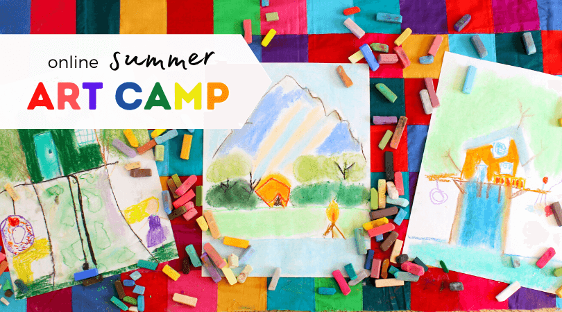 Are you looking for a summer art camp for your kiddo this year? How about an online summer art camp chocked full of artful activities? With just a little bit of planning you can create an online summer camp right from the comfort of your own home!