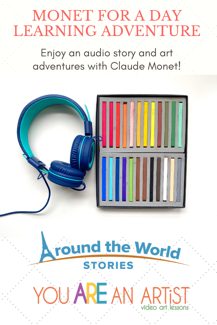 Join Nana and our friends at Around the World Stories to create an amazing Monet for a Day art adventure! Just take a look at how you can enjoy a Famous Artist Claude Monet Unit Study.