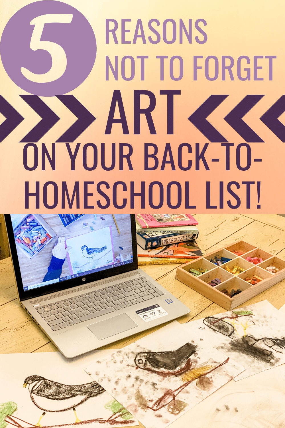 Creativity is essential to your homeschool's health.Here are five reasons not to forget art on your back to homeschool list.