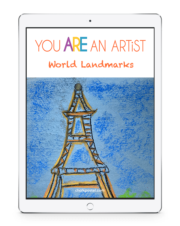 We would consider it a privilege for you to pack your chalk pastels and join us as we continue to visit, paint and learn about famous and glorious World Landmarks with our World Landmarks Video Art Lessons!