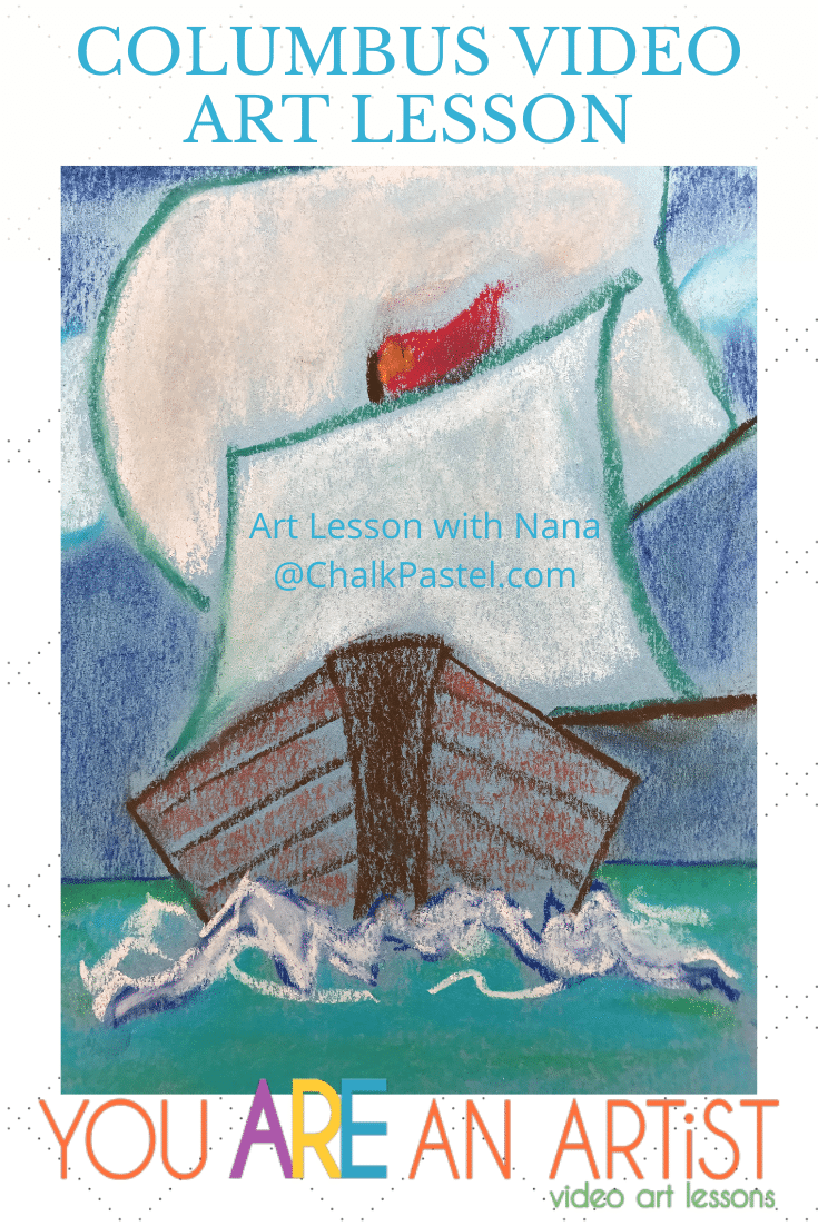 Enjoy an I Drew It Then I Knew It Christopher Columbus art lesson to complement your history studies! This art lesson is the sample from Nana's Classical Collection of American history video art lessons you can find here. All of Nana's I Drew It Then I Knew It lessons are included at the Complete level of the You ARE an ARTiST Clubhouse!