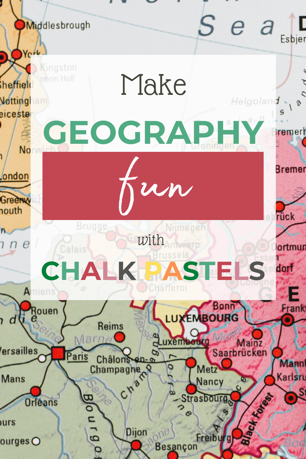 Make Geography Fun with Chalk Pastels: Are you looking for a unique way to get your kids excited about their homeschool geography? Maybe you have a hands-on learner that just needs something a little extra for their cartography lesson. Now you can make geography fun with chalk pastels! #homeschoolgeography #geography #chalkpastels #chalkpastelart #chalkpastelgeography #chalkpastelmaps #homeschoolart