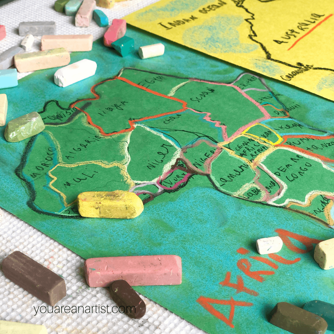 Make Geography Fun with Chalk Pastels