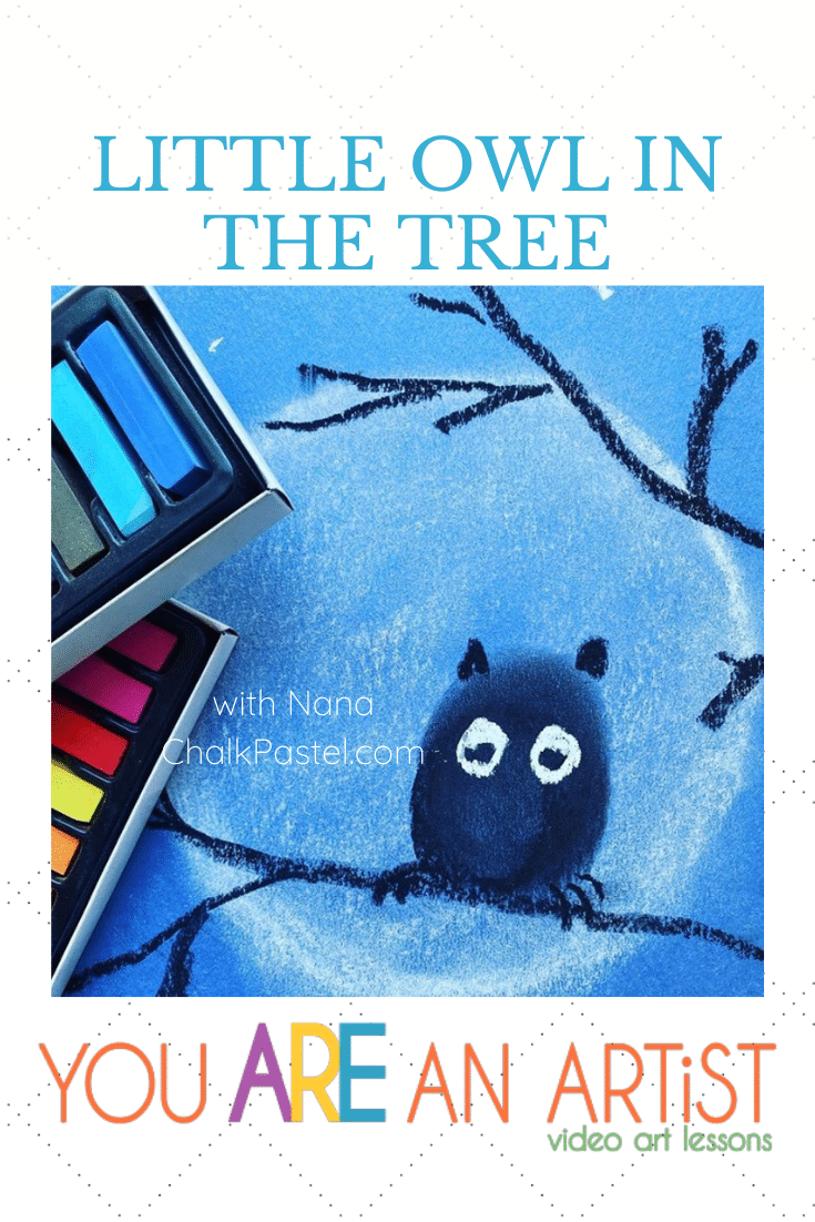 Hoo hooo hooo's ready to paint a cute little owl in the tree with Nana? Little Owl Video Art Lesson - You ARE an ARTiST!