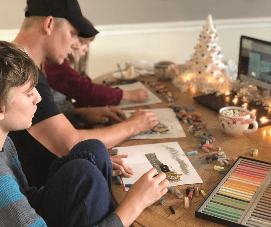 Winter Art Fun with Artist Express Chalk Pastels