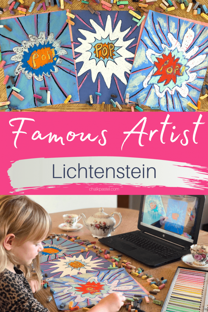 Learn about Famous Artist Roy Lichtenstein and the Pop Art medium with Nana's From My Back Porch podcast and her famous artists series. Accompanying art lesson!
