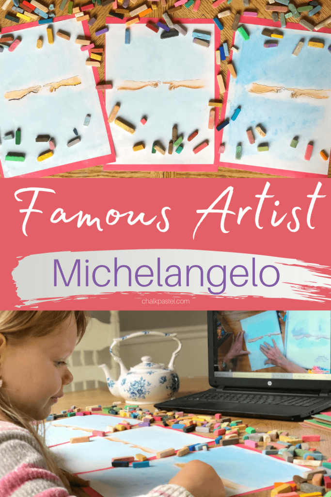 Nana's famous artist Michelangelo podcast. He painted and used wet plaster to give the world stories from the Bible. This is ART at its best!