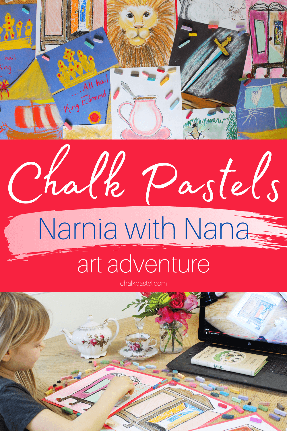 Chalk Pastels Narnia with Nana Art Adventure: Are your kid's ready for an epic art journey? Then, take a trip with chalk pastels Narnia with Nana art adventure! #NarniawithNana #Narnia #Narniaart #Narniachalppastels